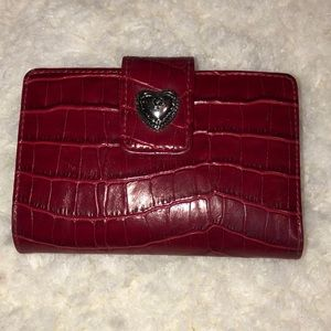 Handbags - Red faux leather wallet very good condition